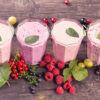 ягодные молочные коктейли