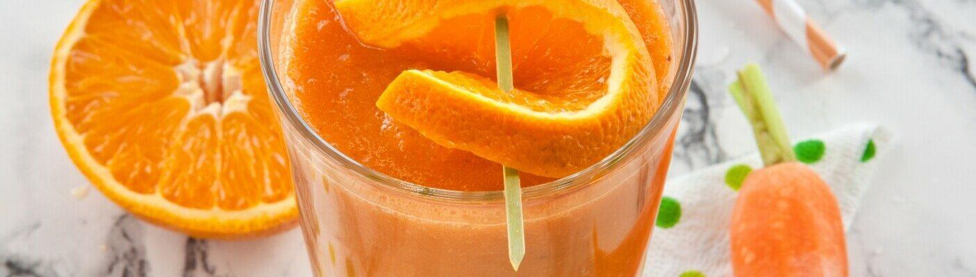 Цитрусово-творожный смузи с морковью