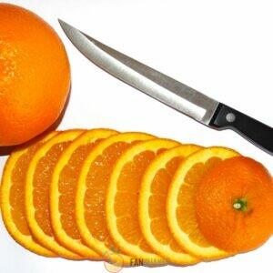 нарезаем апельсин кружочками