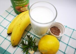 ингредиенты для кокосового смузи